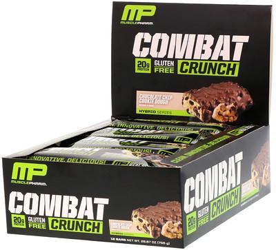 Фото - Combat Crunch, со вкусом шоколадного печенья, 12батончиков по 63г замена приема пищи батончик со вкусом шоколадного печенья 5батончиков по 60г 2 12унции