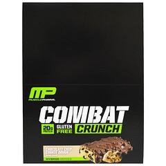 MusclePharm, معركة القرمشة، كعكة البسكويت مع رقائق الشوكولاتة، 12 بار، 63 غ كل منهم.