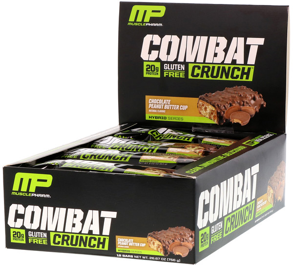 Combat Crunch, Manteiga de Amendoim com Chocolate, 12 Barras, 63 g Cada