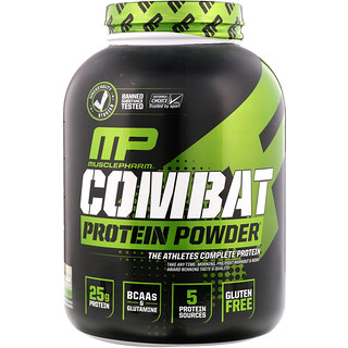 MusclePharm, Combat Protein Powder, Cookies 'N' Cream, 5 lbs (2275 g)