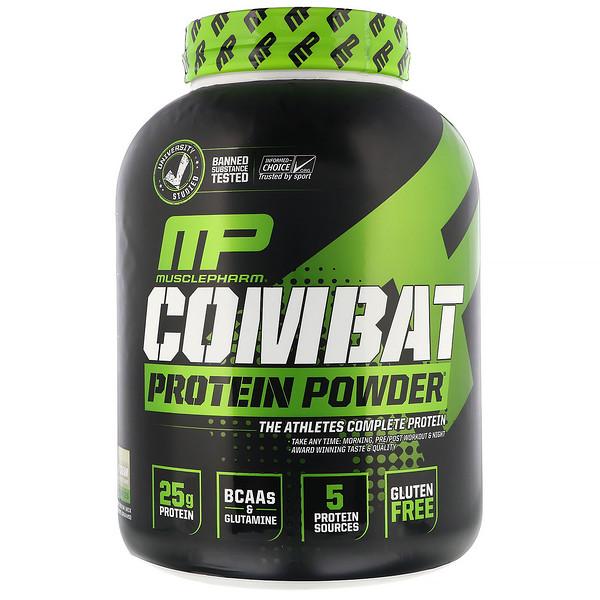MusclePharm, Combat Protein Powder, Cookies 'N' Cream, 5 lbs (2275 g)