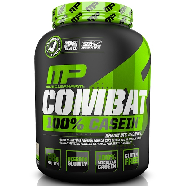 MusclePharm, Combat100%カゼイン、バニラ味、64オンス(1814 g)