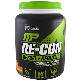 MusclePharm, Re-Con Refuel + Rebuild, Orange Cream, 35.98 oz (1.02 kg)