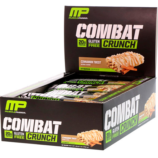 MusclePharm, Combat Crunch, S'mores, 12 Bars, 2.22 oz (63 g) Each