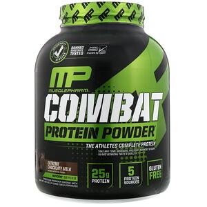 Мусклефарм, Combat Protein Powder, Extreme Chocolate Milk, 4 lbs (1814 g) отзывы