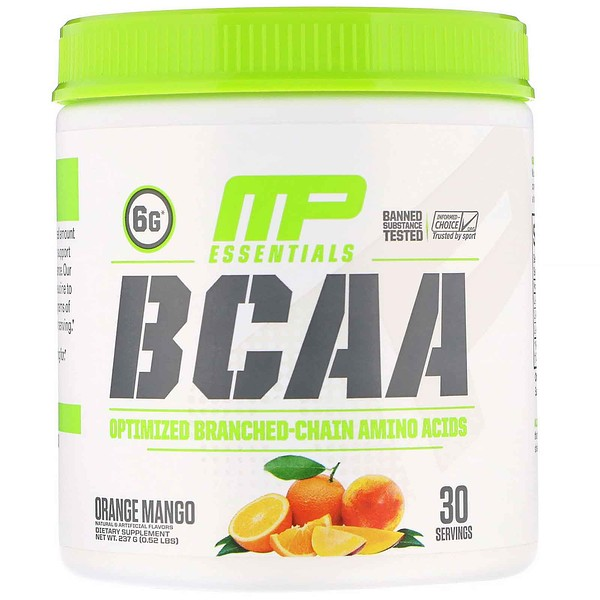 MusclePharm, Essentials, BCAA, Orange Mango, 0.52 lb (237 g)