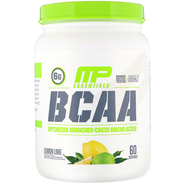 MusclePharm, Essentials, BCAA, Lemon Lime, 1.03 lb (468 g)