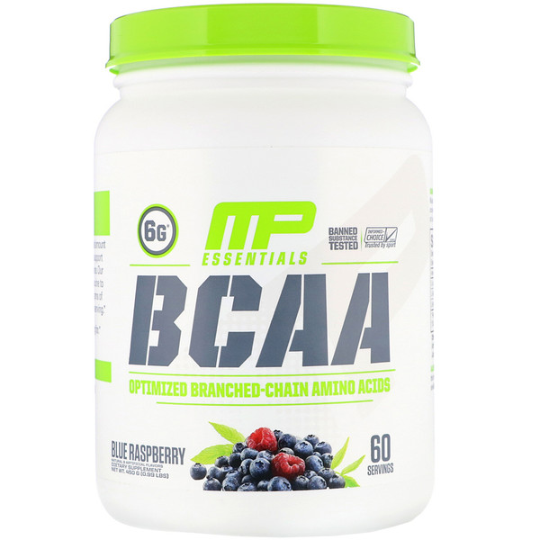 MusclePharm, BCAA Essentials, Blue Raspberry, 0.99 lb (450 g)