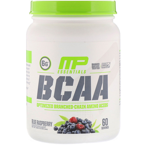 MusclePharm, BCAA Essentials, Blue Raspberry, 0.99 lb (450 g)