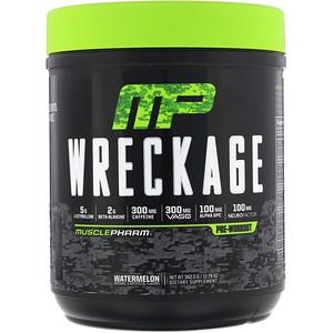 Мусклефарм, Wreckage, Pre-Workout, Watermelon, 12.79 oz (362.5 g) отзывы