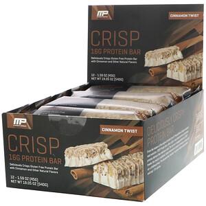 Мусклефарм, Combat Series, Crisp Protein Bars, Cinnamon Twist, 12 Bars, 1.59 oz (45 g) Each отзывы