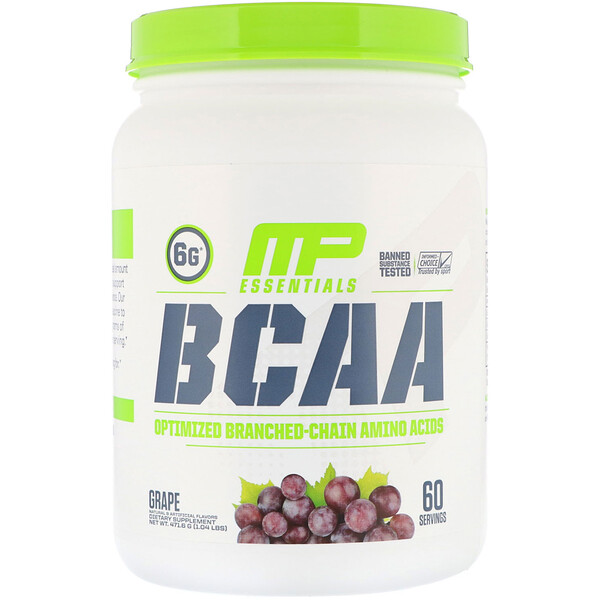 MusclePharm, Essentials, BCAA, Grape, 1.04 lb (471.6 g)