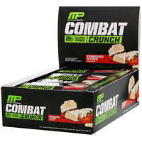 Combat Crunch, Strawberries 'N' Cream, 12 Bars, 2.22 oz (63 g) Each - фото