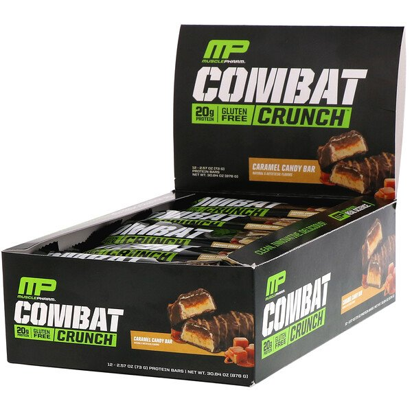 Combat Crunch, Caramel Candy Bar, 12 Bars, 2.57 oz (73 g) Each