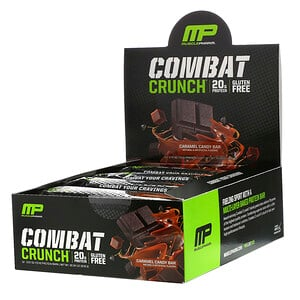 Мусклефарм, Combat Crunch, Caramel Candy Bar, 12 Bars, 2.57 oz (73 g) Each отзывы покупателей
