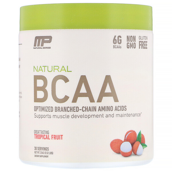 MusclePharm, Natural BCAA, Tropical Fruit, 0.52 lbs (234 g)