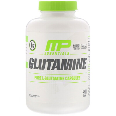 Купить MusclePharm Essentials, Glutamine, 240 Capsules