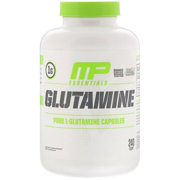Esenciales de glutamina, 240cápsulas