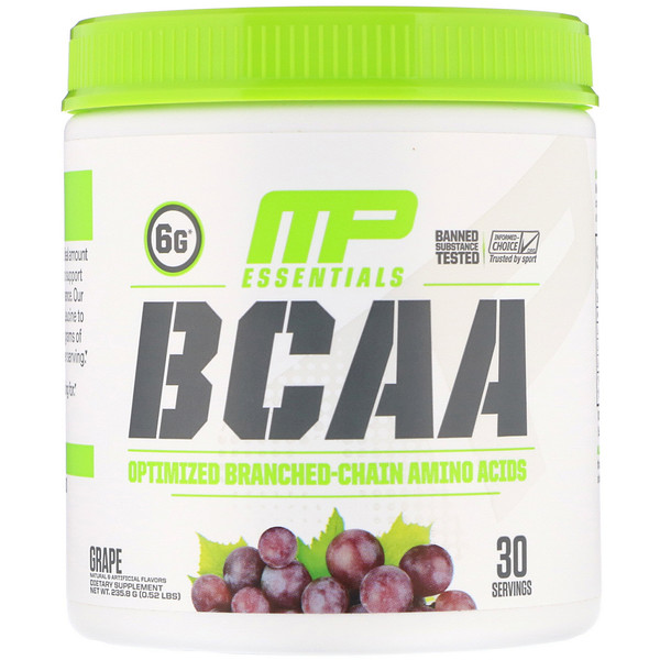 MusclePharm, Essentials, BCAA, Grape, 0.52 lb (235.8 g)