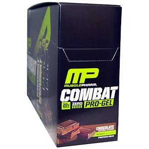 Мусклефарм, Combat Pro-Gel, Chocolate, 12 Protein Gels, 1.62 oz (46 g) Each отзывы