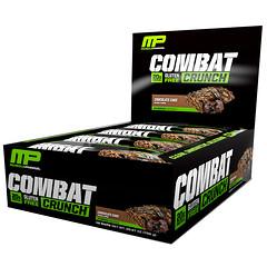MusclePharm, Combat Crunch, Chocolate Cake, 12 Bars, 2.22 oz (63 g) Each