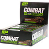 MusclePharm, Combat Crunch, Schokoladenkuchen, 12 Riegel, 2.22 oz (63 g) Each
