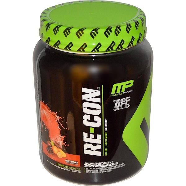 MusclePharm, Re~Con, передовая система построения и восстановления мышц, фруктовый взрыв, 2.64 фунта (1200 г) (Discontinued Item)
