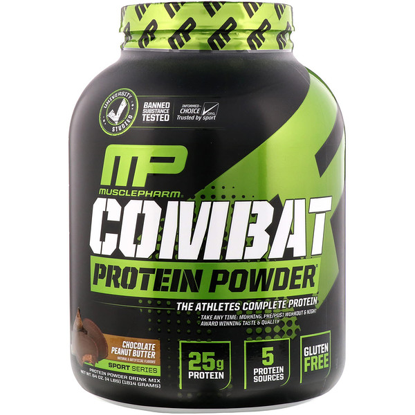 Combat Protein Powder, Chocolate Peanut Butter, 4 lbs (1814 g)