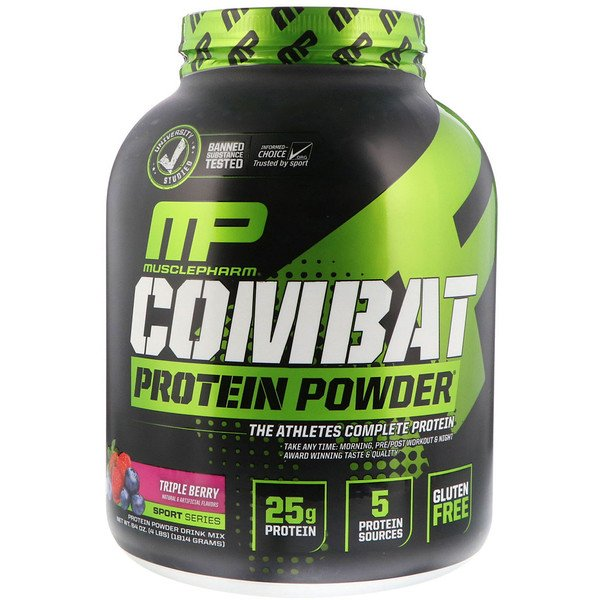 Combat Protein Powder, Triple Berry, 4 lbs (1814 g)