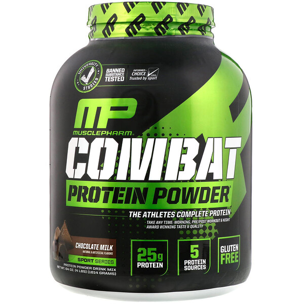 Combat Protein Powder, Chocolate Milk, 4 lbs (1814 g)