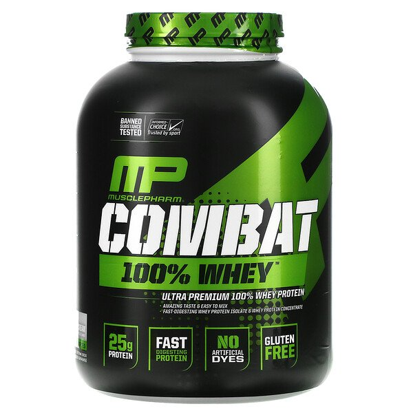 Combat 100% Whey Protein, Cookies 'n' Cream, 5 lbs (2,269 g)