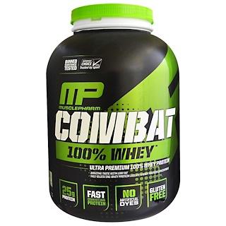 MusclePharm, Combat، 100٪ شرش حليب، الفانيليا، 5 رطل (2269 جم)