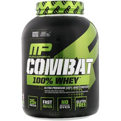 Combat, 100% Whey, протеин, со вкусом шоколадного молока, 2269г (5фунтов)