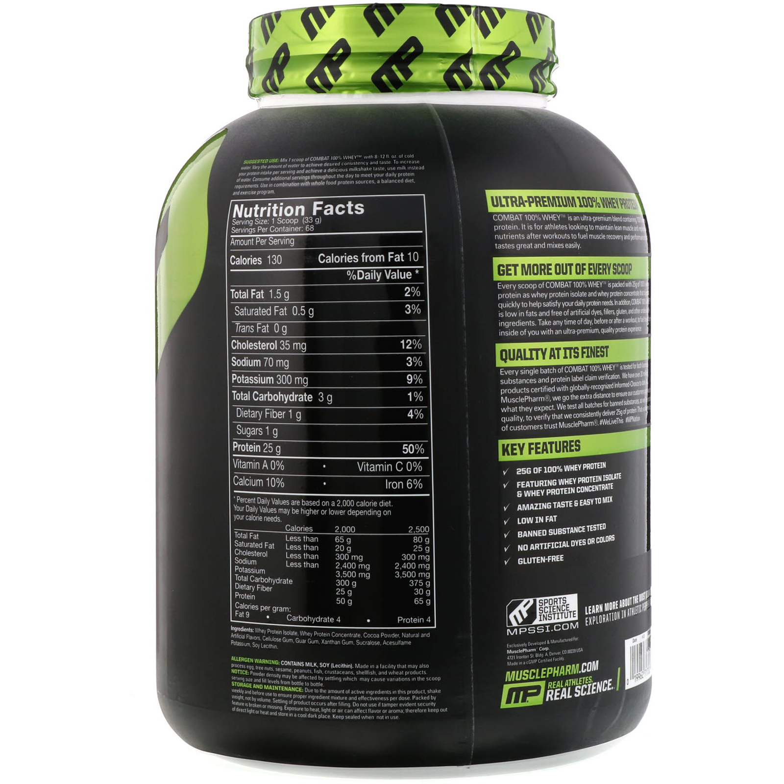 Combat Whey protein ingrediens سعر بروتين كومبات واي بروتين بروتين كومبات للتنشيف بروتين كومبات ماس Muscle pharm فوائد بروتين كومبات لزيادة الوزن