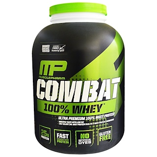 MusclePharm, Combat 100% Proteína Whey, Chocolate ao Leite, 80 oz (2269 g)