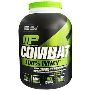 MusclePharm, Combat 100% Whey Protein, Chocolate Milk, 80 oz (2269 g)