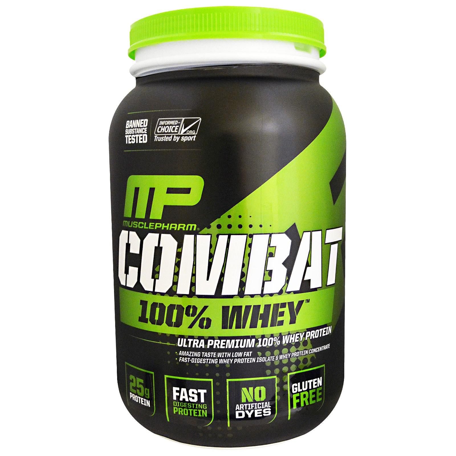 """MusclePharm, """"Битва"""", 100% сывороточный белок со вкусом ванили, 32 унции (907 г)"""