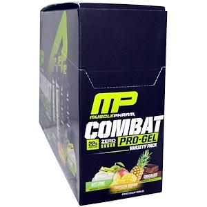 Мусклефарм, Combat Pro Gel, Variety Pack, 12 Gels, 1.62 oz (46 g) Each отзывы