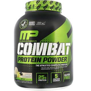 MusclePharm, Combat Protein Powder, Vanilla, 4 lbs (1814 g)