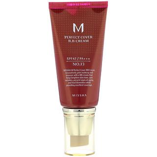 Missha, Perfect Cover B.B Cream, No. 13 Bright Beige, 50 ml