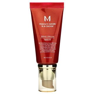 Missha, Perfect Cover B.B Cream, SPF 42 PA+++, No. 13 Bright Beige, 50 ml