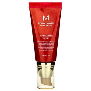 Миша, Perfect Cover B.B Cream, SPF 42 PA+++, No. 13 Bright Beige, 50 ml отзывы покупателей