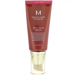 Missha, M 完美遮瑕 BB 霜,SPF 42 PA +++,25 號暖米色,1.7 盎司(50 毫升)