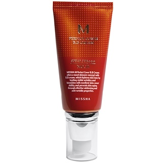 Missha, M Perfect Cover BB Cream, No. 21 Light Beige, 50 ml