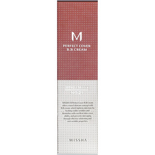 Missha, M Perfect Cover BB Cream, N. 21 Bege Claro, 50 ml