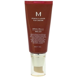 Missha, M Perfect Cover BB霜,第23號天然膚色,50 ml