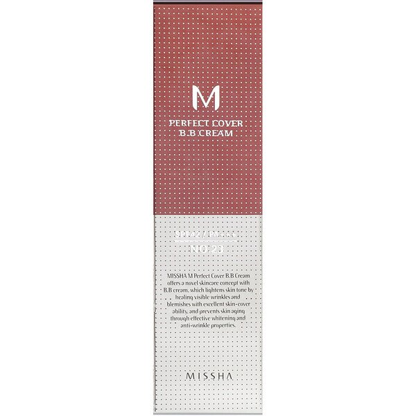 Missha, Perfect Cover BB Cream, No. 23 Natural Beige, 50 ml