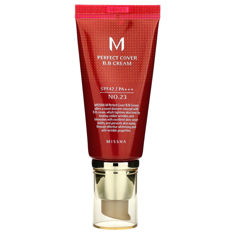 Missha, Perfect Cover BB Cream, SPF 42 PA+++, No. 23 Natural Beige, 50 ml (Discontinued Item)