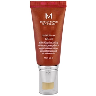 Missha, M Perfect Cover BB Cream, No. 31 Golden Beige, 50 ml