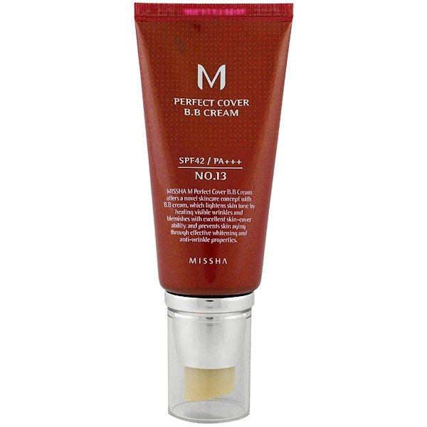 Missha, M Perfect Cover B.B Cream, No. 13 Bright Beige, 50 ml (Discontinued Item)